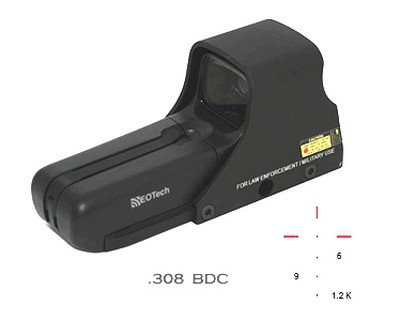 Eotech M552.Xr308 Mil. Aa Bdc Ret .308 Scope 552.Xr308