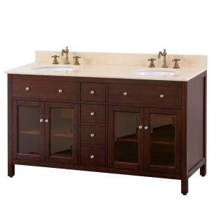 Avanity Lexington 60in Double Sink Vanity in Light Espresso