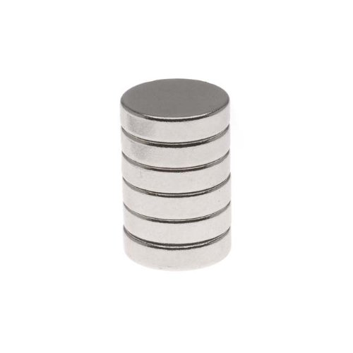 Craft and Hobby Neodymium Rare Earth Super Magnets 1/2 Inch 12mm Disc (6)
