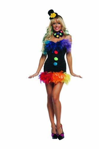Starline Clownin' Around Costume, Black/Multi, Medium