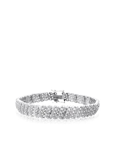 Firefacet Diamonds 1-Cttw. Four-Row Diamond Bracelet