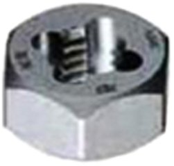 Gyros 92-94805 Carbon Steel Hex Rethreading Die, 1-3/4 - 5  TPI