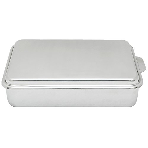 Lindy's Stainless Steel  9 X 13 inches Covered Cake Pan, Silver (Stainless Cake Pan compare prices)