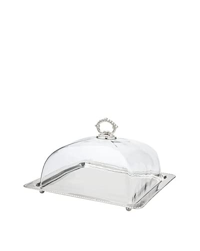 Godinger Square Tray with a Glass Dome