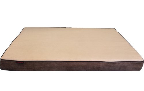 "Beige Color Gusset Style 41X27""X4"" Orthopedic Waterproof Memory Foam Pet Bed Pad For Medium Large Dog Crate Size 42""X28"" With 2 External Covers"
