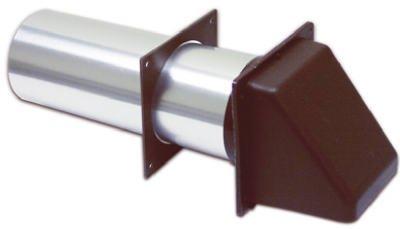 "Lambro #224Bs 4"" Brown Dry Hood Vent front-464307"