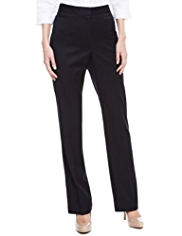 M&S Collection Straight Leg Pinstriped Trousers