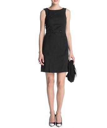 ESPRIT Damen Kleid (knielang) R21772, Gr. 34 (XS), Schwarz (001 black)