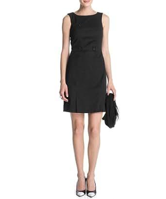 ESPRIT Damen Kleid (knielang) R21772, Gr. 38 (M), Schwarz (001 black)