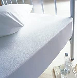 Love2Sleep TERRY TOWELLING WATERPROOF MATTRESS PROTECTOR SINGLE : NON NOISY (CRINKLE FREE). 100% COTTON PILE TOP.