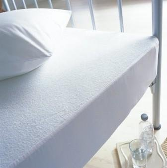 Love2Sleep COT BED SIZE TERRY TOWELLING WATERPROOF MATTRESS PROTECTOR : NON NOISY (CRINKLE FREE). 100% COTTON PILE TOP.