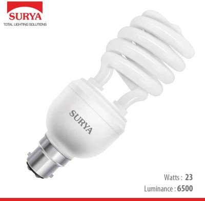 Surya 23 Watt Spiral CFL Bulb (White,Pack of 4) Image