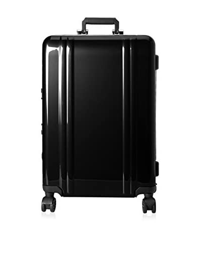 ZERO Halliburton Classic Polycarbonate 24 4-Wheel Spinner Travel Case, Black