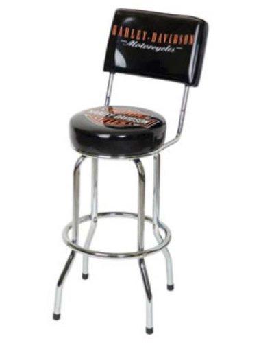 Harley Davidson Bar Stool with Backrest Cheap Niederros