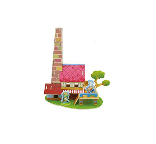 Thinkmax Diy 3D House Wooden Blocks front-261204