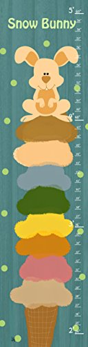 Green Leaf Art Growth Chart, Snow Bunny