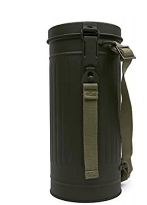 Gas Mask Model: WWII German Gas Mask Container from Landser :: Gas Mask Bag :: Army Gas Masks :: Best Gas Mask