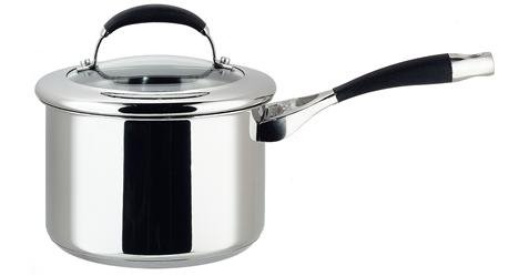 Circulon Non Stick Stainless Steel Sauce Pan With Glass Lid