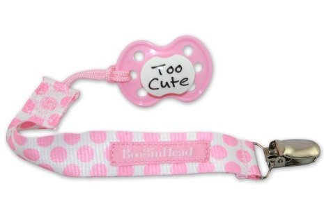 BooginHead PaciGrip Pacifier Holder Clip - Delicate Dot Pink