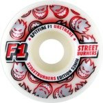 Buy Spitfire F1 Street Burners White Red Fade Skateboard Wheels - 53mm 100a (Set of 4) by Spitfire