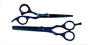 Body Toolz Professional Barber Blue Titanium Shear/Scissor Set