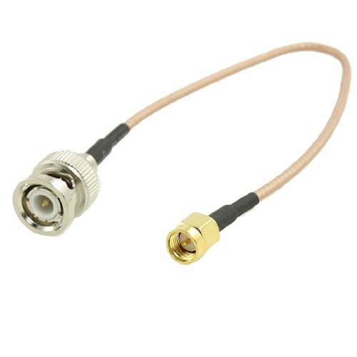 Banggood Gold-Plated BNC Male To SMA Male Connector Coaxial Cable 8. 8""