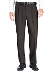 Crease Resistant Single Pleat Regular Fit Trousers