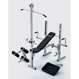 York 521 Bench and Lat Curl 5 station heavy duty weight ...