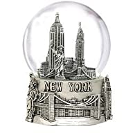 Silver New York City Snow Globe Gift…