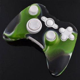 258Stickers® Silicone Case Skin For Xbox 360 Wireless Controller Fantasy Green Black Camo