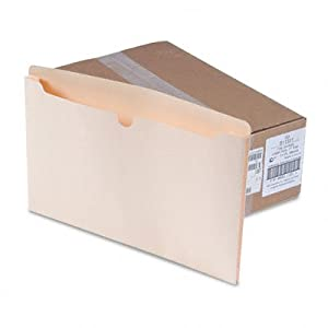 """Recycled File Jacket, Back Tab is 1/2""""H, Expands 2"""", Legal, Manila, 50/Box SJPS11331"""