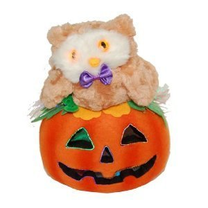 Halloween Light Up Owl Jack-O-Latern - (Battery Powered) - 1