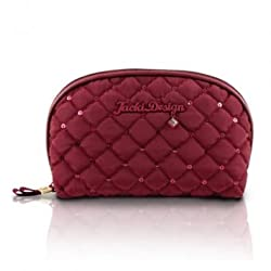 Jacki Design Bella Donna Dome Cosmetic Bag,Bella Donna,Burgundy,ABC15018RD