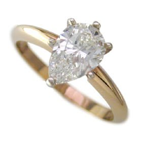 .44ct Pear Shape Diamond Solitaire K Color I1 Clarity Appraisal Included – Size