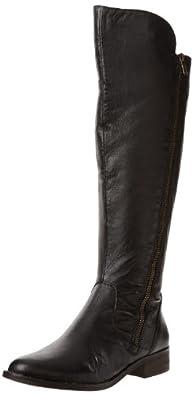 Steve Madden 史蒂夫·马登 女士 真皮长筒靴 黑色 .51(约530元)