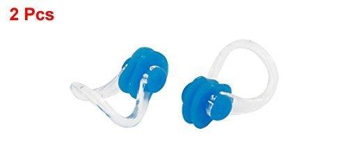 Nasenklammer Gummi Schwimmen Blau Klar (2 Stück)