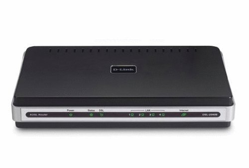 D-Link DSL-2540B ADSL2/2+ Modem with 4-Port Ethernet Router TR067/069