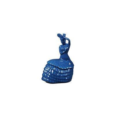 Fiesta Dancing Lady Cookie Jar, Lapis By Homer Laughlin