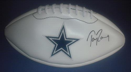 Tony Romo Autographed Football - Logo - Autographed Footballs