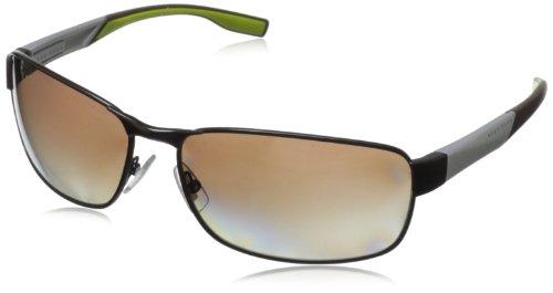 Boss By Hugo Boss Men'S B0569Ps Rectangular Polarized Sunglasses,Brown,65 Mm