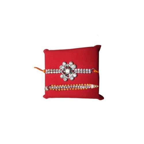 handicrunch-haldiram-soan-papdi-pearl-rakhi-set-of-2-rakhi-combo-set