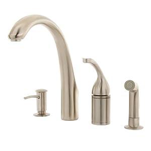 Kohler r10430 bn brushed nickel kitchen faucet s 7 for Kitchen faucet recommendations