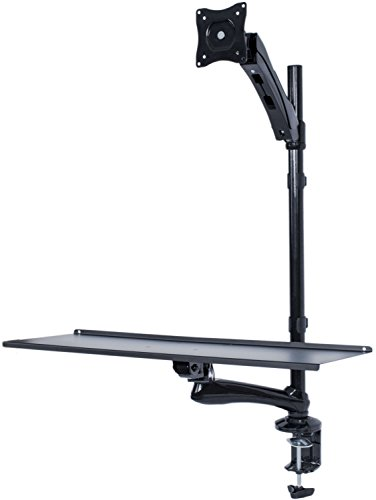 Vivo Single Monitor Sit Stand Height Adjustable
