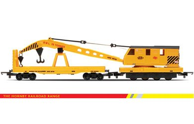 Hornby R6369 00 Gauge Breakdown Crane Railroad Rolling Stock