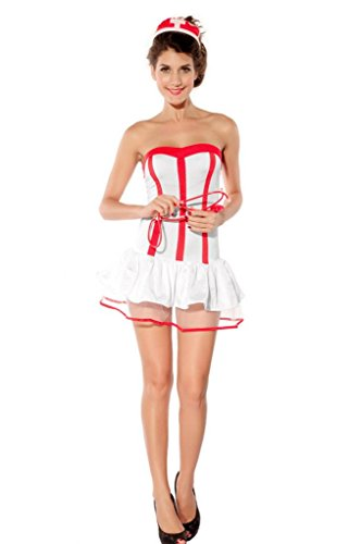 La vogue Dessous Krankenschwester Kostüm Ärztin Uniform Karneval Mottoparty