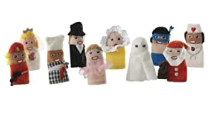 10pc Ikea People & Character Finger Puppet Set
