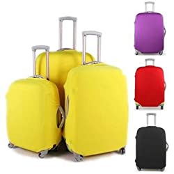 Colorful Luggage Travel Protector Suitcase Cover Trolley Suitcase Bags Black Dustproof (20, black)