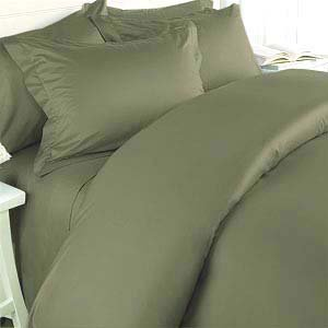 Elegance Linen ® Wrinkle-Free- 1500 Thread Count Full/Queen Size Egyptian Quality 3Pcs Duvet Cover Set, Sage