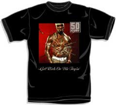 50 Cent G-Unit CD Get Rich Or Die Tryin Adult Black Tee T-Shirt