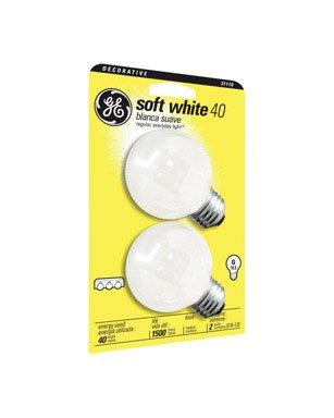 Ge 31110-12 40-Watt Soft White, Globe G16.5, 12-Pack